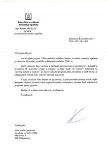 Odpoved prezidenta zo dňa 28.novembra 2014